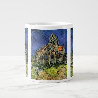 Van Gogh kyrka på Auvers, vintagearkitektur Jumbo Mugg