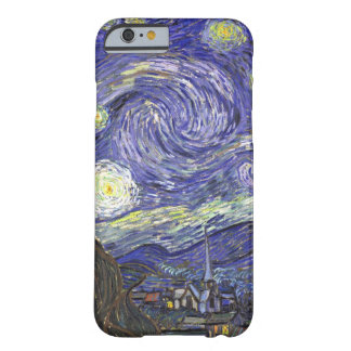 Van Gogh landskap den Starry natten, vintage konst Barely There iPhone 6 Skal
