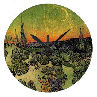 """Van Gogh """"landskap med kopplar ihop att gå"""" tar Stor Klocka"""