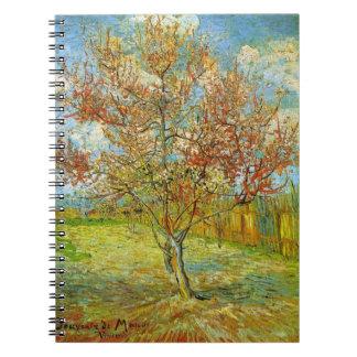 Van Gogh rosa persikaträd i blommar, konst Anteckningsbok Med Spiral