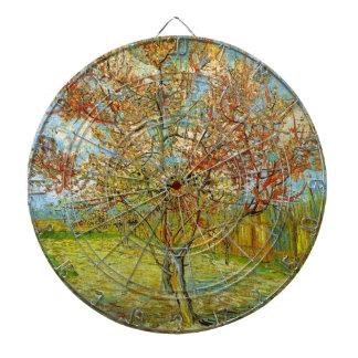 Van Gogh rosa persikaträd i blommar, konst Piltavla