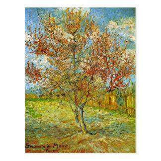 Van Gogh rosa persikaträd i blommar, konst Vykort