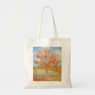 Van Gogh rosa persikaträd i blommar Tygkasse