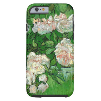 Van Gogh rosa rosblommor, vintagestillebenkonst Tough iPhone 6 Fodral