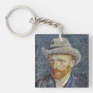 Van Gogh självporträttgrå färg klädde med filt
