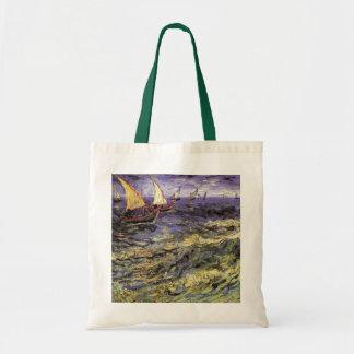Van Gogh sjölandskap på Saintes Maries, konst Tygkasse