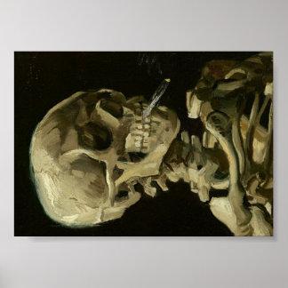 Van Gogh skalle av skelett med den brinna Poster