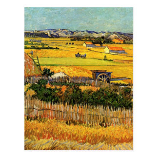 Van Gogh skördLa Crau, Montmajour, konst Vykort