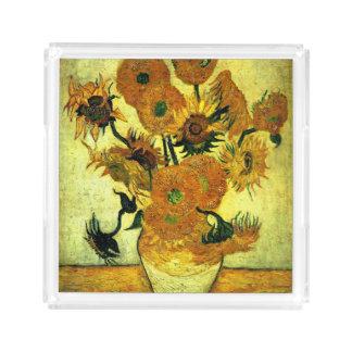 Van Gogh - solrosor (fjorton) Bricka