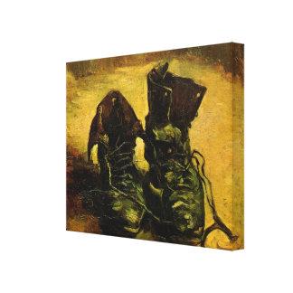 Van Gogh som en para av skor, Canvastryck