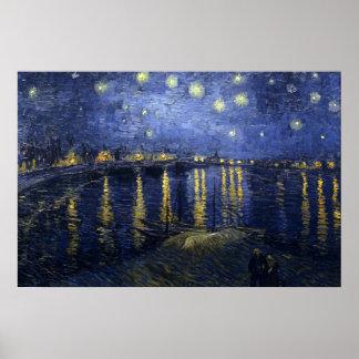 Van Gogh - Starry natt över Rhonen (1888) Poster
