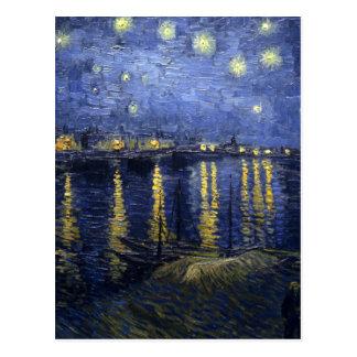 Van Gogh - Starry natt över Rhonen (1888) Vykort