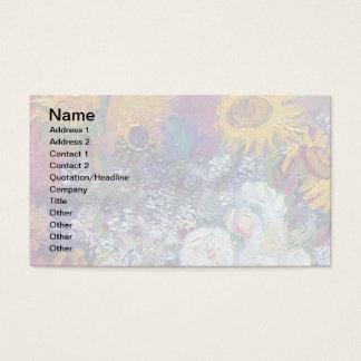 Van Gogh - stilleben med ro och solrosor Visitkort