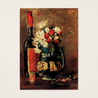 Van Gogh: Vas med nejlikor, ro och en flaska Visitkort