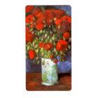 Van Gogh: Vas med röda vallmor Fraktsedel