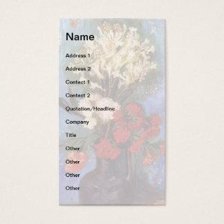 Van Gogh - vasen med nejlikor och annan blommar Visitkort