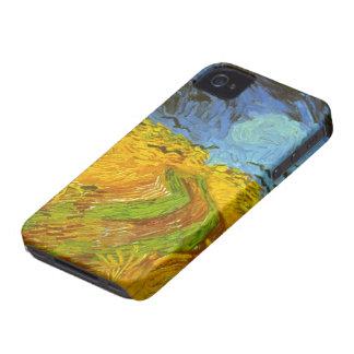 Van Gogh vetefält med kråkor, vintagekonst iPhone 4 Skydd