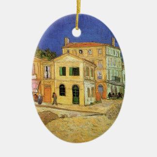 Van Gogh Vincents hus i Arles, konst Julgransprydnad Keramik