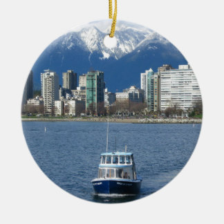 Vancouver BC Rund Julgransprydnad I Keramik