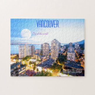 Vancouver BC - vintagestil Pussel