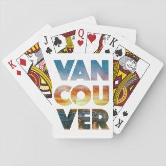 Vancouver som leker kort - beställnings- kortlek
