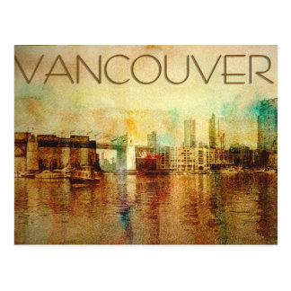 Vancouver vattenfärg vykort