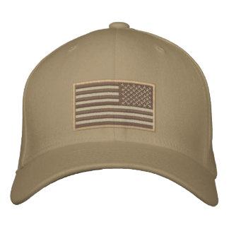 Vänd om öken för US flagga Broderad Keps