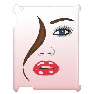 Vända mot med läppstift i iPadfodral för spegel iPad Mobil Skydd