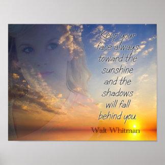 Vända mot solskenet -- Walt Whitman Poster