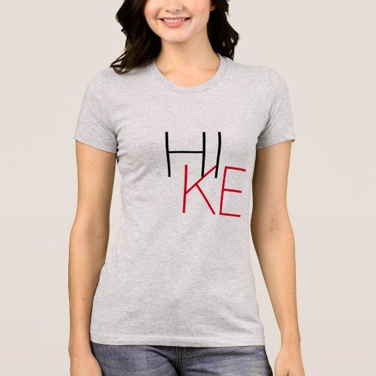 vandringfotvandrare design för T-tröja för T-shirts