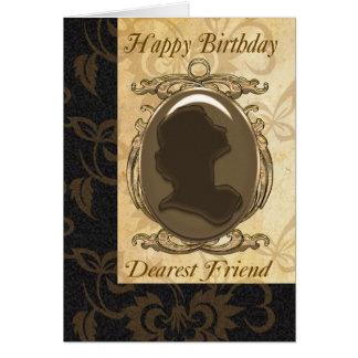 Vänfödelsedagkort med cameoen hälsningskort