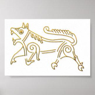 Vang Runestone-guld skisserar affischen Affischer