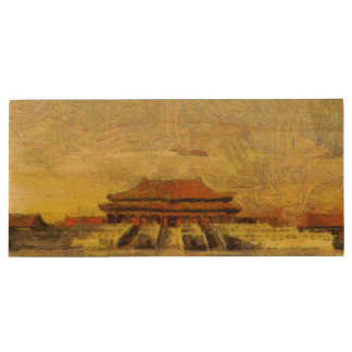 vangoghize Forbidden City USB-drev 8 GB Trä USB-minne