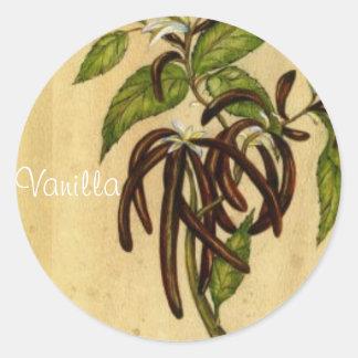 Vanilj Runda Klistermärken