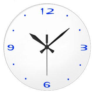 Vanlig blått och vit > kök tar tid på stor klocka