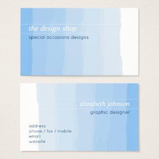 Vanlig elegant enkel blåttvattenfärgpastell visitkort