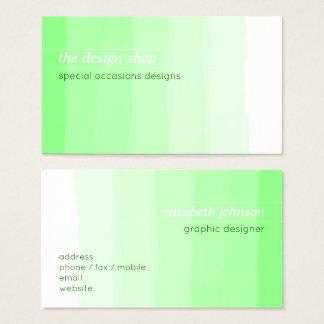 Vanlig elegant enkel grön vattenfärgpastell visitkort