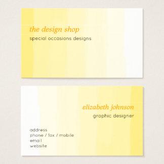 Vanlig elegant enkel gul vattenfärgpastell visitkort