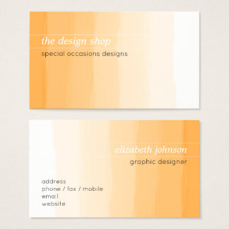 Vanlig elegant enkel orange vattenfärgpastell visitkort