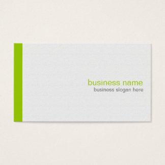 Vanlig elegant modern enkel grön rand på vit visitkort