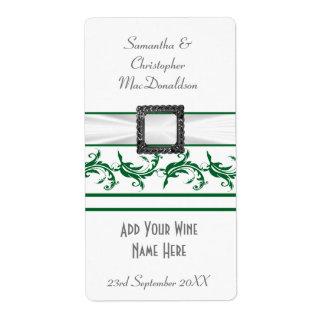 Vanlig flaska för grönt- och vitbröllopvin fraktsedel