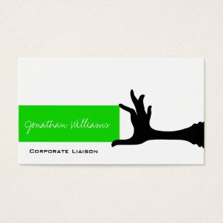 Vanlig grönt räcker den moderna yrkesmässiga visitkort