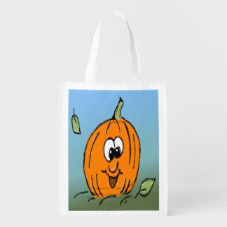 Vänlig gullig O för Halloween pumpajack lykta Återanvändbar Påse