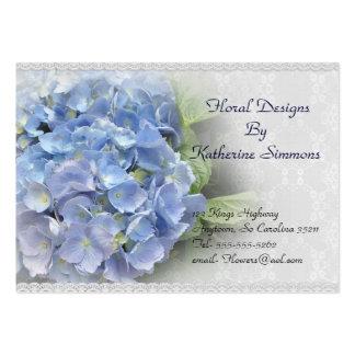 Vanlig hortensia blommar visitkorten set av breda visitkort