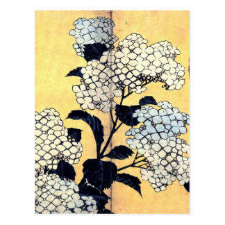 Vanlig hortensia och svala av Katsushika Hokusai Vykort