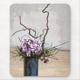 Vanlig hortensia- och trävasvattenfärg musmatta