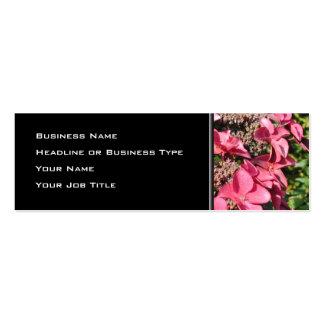 Vanlig hortensia. Rosa Flowers. Set Av Smala Visitkort