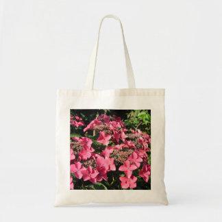 Vanlig hortensia. Rosa Flowers. Tygkasse