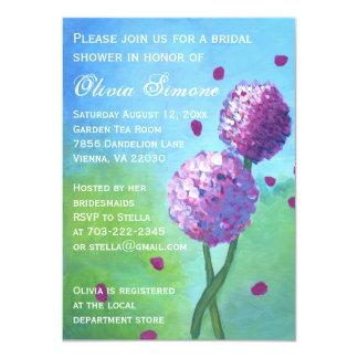 Vanlig hortensia som målar inbjudningskort för