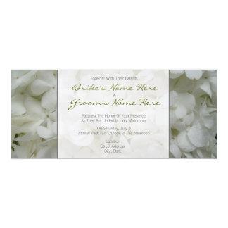 Vanlig hortensiabröllopInbjudan-Tillsammans med 10,2 X 23,5 Cm Inbjudningskort